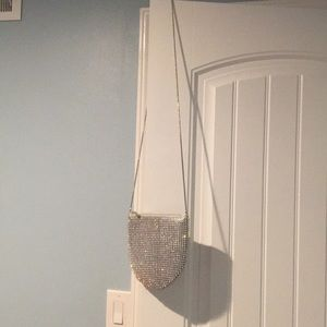 NWT Sparkly silver purse
